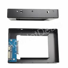 """2.5"""" SSD to 3.5"""" SATA Drive Rack Bracket Adapter for PC Drive Tray"""