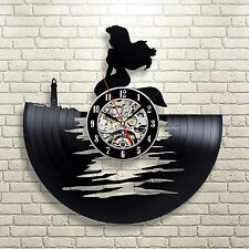 Little Mermaid Ariel Disney_Exclusive wall clock made of vinyl record_GIFT