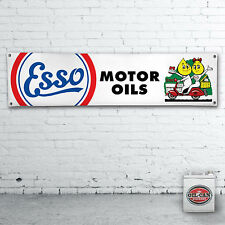 Esso oli motore scooter banner, Heavy Duty Banner per officina, garage, mancave