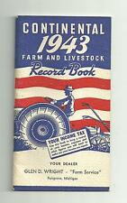 VTG 1943 Continental Farm And Livestock Record Book Steel Corporation N