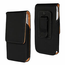 Vertical Leather Belt Clip Tradesman Workman Pouch Case Cover for iPhone 7 Plus