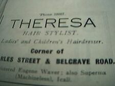news item 1938 advert theresa hair sylist charles street belgrave road leicester