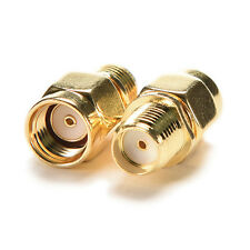 RP SMA Male Plug to SMA Female Jack Straight RF Coax Adapter Connector EF
