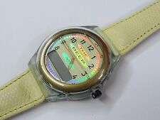 Swatch telecom Dummy PAN210 Golden Wing Numeric Pager mit neuwertigem Band 1995