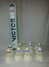 11 Badminton shuttlecocks in Victor #3 tube