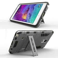 Samsung Galaxy Note 4 Case,Hybrid Dual Layer Case Cover Bumper with Kick Stand