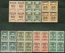SURINAM  SC#132/38  NVPH#130/36 BLOCK SET  MINT NEVER HINGED  FULL ORIGINAL GUM