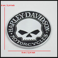Metal Skull Emblem / Medallion For Harley Davidson Tank / Fender / Body 3D