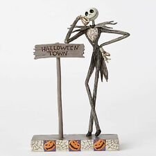 New JIM SHORE DISNEY Figurine NIGHTMARE BEFORE CHRISTMAS Jack Skeleton Halloween