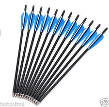 """12 Pcs Carbon Arrows 20"""" Crossbow Bolts for Crossbow Hunting Archery Hunter"""