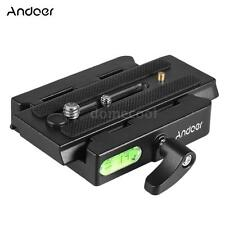 Camera Tripod Head Quick Release QR Plate Adapter Slide Clamp for Manfrotto T0T3