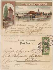 GRUSS AUS KONSTANZ - LITHO VEDUTINE (GERMANIA) PRIMI 900