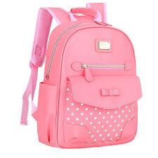 Fashion Kids Gift Girls PU Pupil School Bags Shoulder Backpack Handbag Bookbags