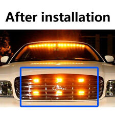 Amber Yellow 18 LED Emergency Car Truck Vehicle Police Grill Strobe Lights Bar