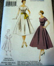 1950s VOGUE VINTAGE MODEL DRESS SEWING PATTERN 6-8-10-12-14 UC