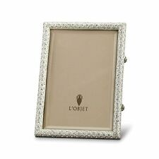 Platinum Rectangle w/ Crystals  5X 7 Frame by L'Objet.