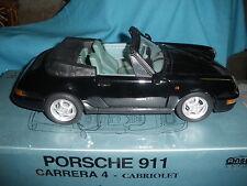 529A Anson 30313 Porsche 911 carrera 4 cabriolet noir + Boite 1/14