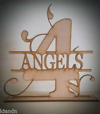 Free standing Personalised Number MDF blank craft Plaque/Sign/Table Numbers.