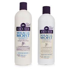Aussie Miracle Moist Shampoo 500ml & Conditioner 400ml