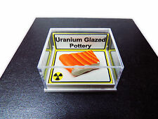 Uranium Glaze Pottery - Mounted Specimen - Geiger Counter Check Source (000025)