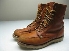 VINTAGE BROWN MENS SIZE 7.5 MEDIUM LEATHER ANKLE packer FARM CHORE BOOTS