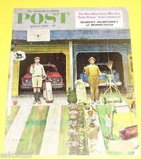 Post Magazine 04/25/1959 Rainy Day cover Nice Picture! See!