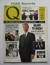 Q MAGAZINE - Issue 33 June 1989 - David Bowie / Deacon Blue / Simple Minds