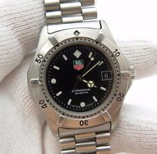 TAG HEUER,Mod 962.006 Black Date/Just Dial,Original SS Band,MEN's DIVE WATCH,140