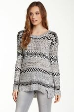 NWT $140 Romeo & Juliet Couture Fairisle Sweater--Scoop Neck--Medium
