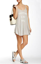 Wildfox Couture Shopping Is My Cardio Slip Dress In Grey Size M