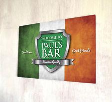 Personalizzata Irlandese Bandiera Chrome Crest Birra Etichetta Firmare a4 metallo segno