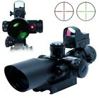 2.5-10X40 TACTICAL RIFLE SCOPE w/ RED LASER / MINI REFLEX 3 MOA RED DOT SIGHT