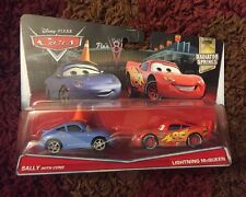 Disney Pixar Cars- Sally With Cone And Lightning McQueen.