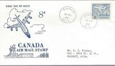 1964 #436 Air Mail Stamp 8 cents FDC with Ginn cachet