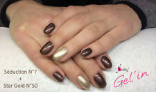 Gel'in soak off color gel polish n°7 Seduction MAGNETIC 15ml sous UV/LED