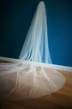 3M Wide Bridal Veil *Cathedral Length*pearl/rhinestone*Off white/Ivory*Cut Edge*