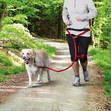 NEW Dog Jogging Lead Red for Medium Large Dogs 12766