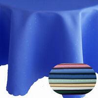 Abverkauf Punkte Damast Tischdecke OVAL Breite 130 , 135 , 160 cm Größe Farbe