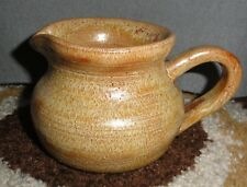 """HANDCRAFTED POTTERY SMALL PITCHER SIGNED EM """"80"""" 3"""" HIGH X 3.5"""" WIDE*"""