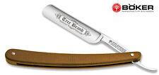 BOKER TREE BRAND KNIVES 140509 MICARTA HANDLE GERMANY STRAIGHT RAZOR KNIFE NEW