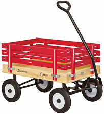 CHILDREN'S WAGON - NO FLAT TIRES - Amish Made in USA - RED GREEN PINK & BLUE