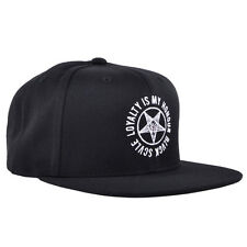 Black Scale Snapback Hat Baphomet Headwear Embroidered Mens BLVCK SCVLE Cap
