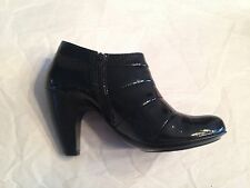 Soffit black patent leather booties- Size 8.5 M - Excellent condition