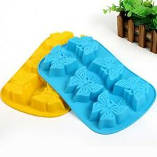 Sale DIY Butterfly Cake Mold Soap Silicone Mould For Candy Chocolate Cake