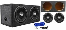 "(2) Alpine SWA-12S4 12"" 1500 Watt Car Subwoofers + Sealed Sub Enclosure Box"
