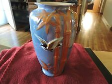 Vintage Antique Lustreware Luster Ware Bud Flower Vase Hand Painted Bird