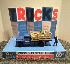 REVELL CHEVROLET 2 TON PICK UP  STAKE TRUCK 1/ 48 MODEL STORE DISPLAY BASE ONLY