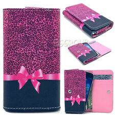 Universal PU Leather Flip Wallet Money Card Case Cover For Various Mobile Phones