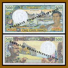 French Pacific 500 Francs, Nd 1992 P-1b Unc