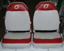 2 ea. WISE OVERTON SERIES HIGH BACK BOAT SEAT GREY/RED WD1316-661 (SET OF 2)